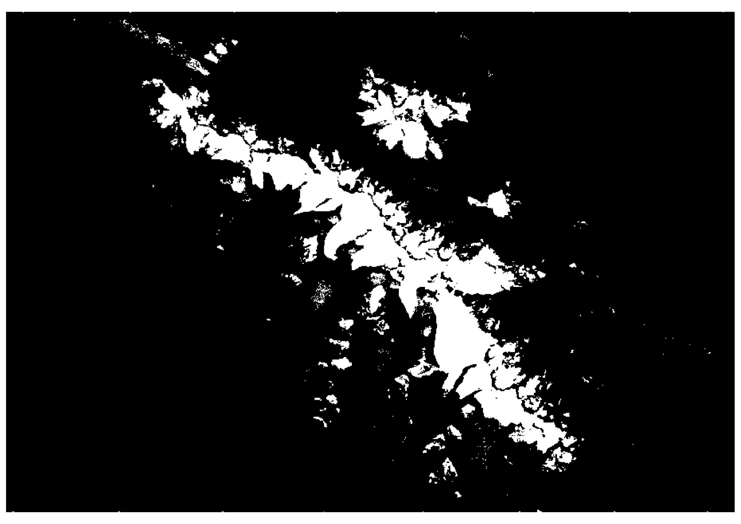 Figure 7: Reclassified image of snow cover.